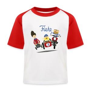 'Crazy Race' Fiete Kids Baseball Shirt - red - Kinder Baseball T-Shirt