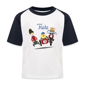 'Crazy Race' Fiete Kids Baseball Shirt - navy - Kinder Baseball T-Shirt