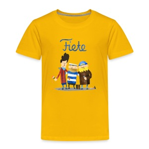 'Friends' Fiete Kids Shirt - yellow - Kinder Premium T-Shirt