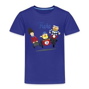 'Crazy Race' Fiete Kids Shirt - yellow - Kinder Premium T-Shirt