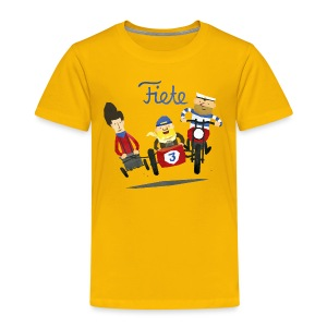 'Crazy Race' Fiete Kids Shirt - yellow - Kinder Premium T-Shirt