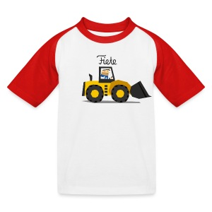 'Digger' Fiete Kids Baseball Shirt - red - Kinder Baseball T-Shirt