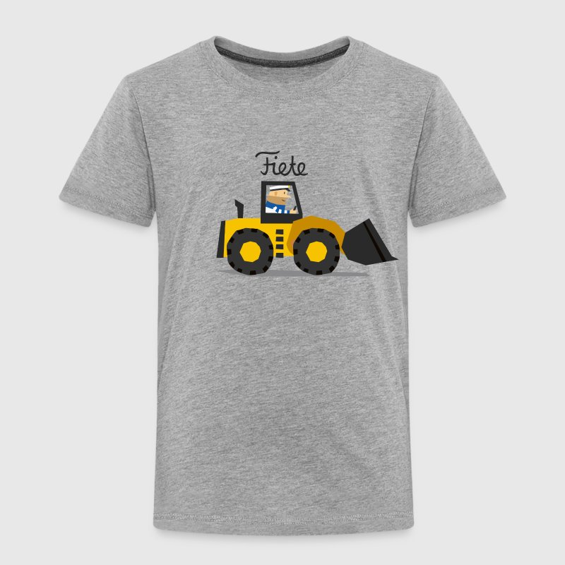 'Digger' Fiete Kids Shirt - grey - Kinder Premium T-Shirt