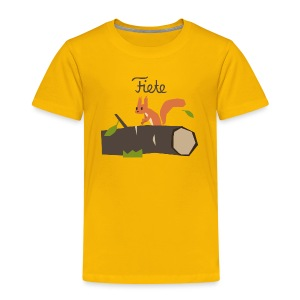 'Chippy' Fiete Kids Shirt - yellow - Kinder Premium T-Shirt