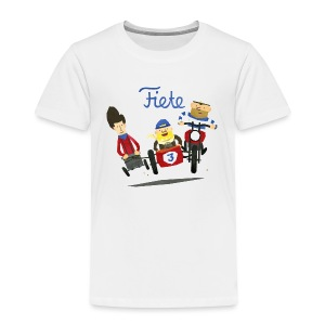'Crazy Race' Fiete Kids Shirt - white - Kinder Premium T-Shirt