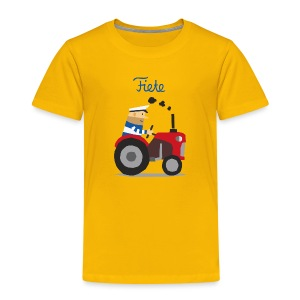 'Farm' Fiete Kids Shirt - yellow - Kinder Premium T-Shirt