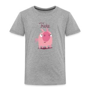 'Piggy' Fiete Kids Shirt - grey - Kinder Premium T-Shirt