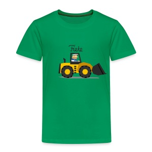 'Digger' Fiete Kids Shirt - green - Kinder Premium T-Shirt