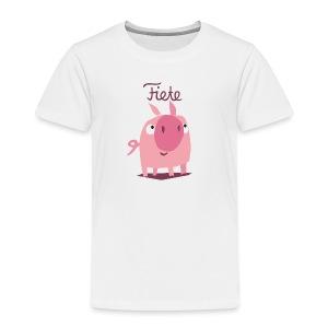 'Piggy' Fiete Kids Shirt - white - Kinder Premium T-Shirt