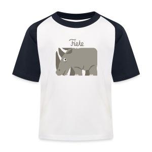'Rhino' Fiete Kids Baseball Shirt - navy - Kinder Baseball T-Shirt