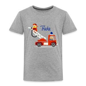 'Firefighter' Fiete Kids Shirt - grey - Kinder Premium T-Shirt