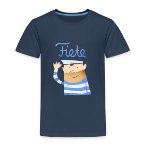 'Hello' Fiete Kids Shirt - navy - Kinder Premium T-Shirt
