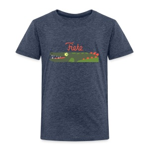 'Kroko' Fiete Kids Shirt - grey - Kinder Premium T-Shirt