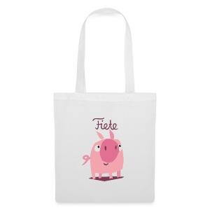 'Piggy' Fiete Shopping Bag - white - Stoffbeutel