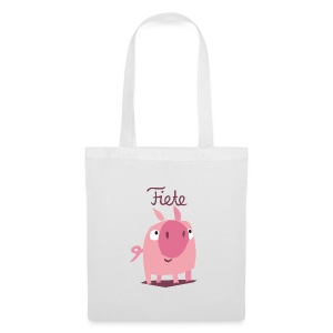 'Piggy' Fiete Shopping Bag - white - Stoffbeutel