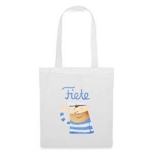 'Hello' Fiete Shopping Bag - white - Stoffbeutel