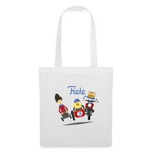 'Crazy Race' Fiete Shopping Bag - white - Stoffbeutel