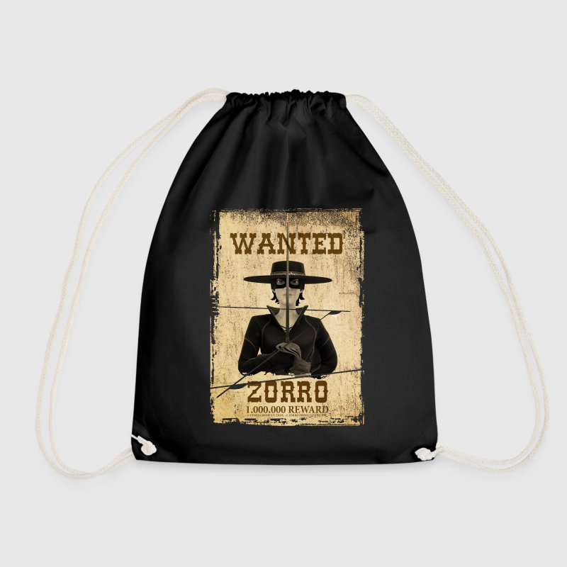 Zorro The Chronicles Wanted Poster - Drawstring Bag