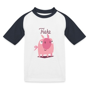 'Piggy' Fiete Kids Baseball Shirt - black - Kinder Baseball T-Shirt