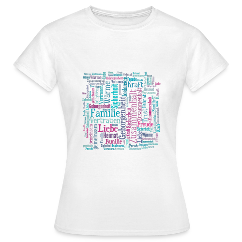 Familien Cloud T-Shirt w - Frauen T-Shirt