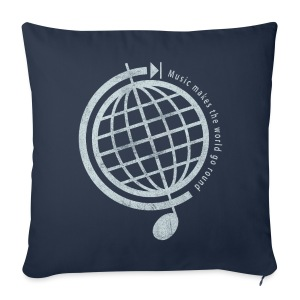 Music Globe Pillow Cover - Sofa pillow cover 44 x 44 cm