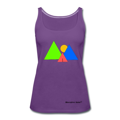 In front the Mountains  - Frauen Premium Tank Top