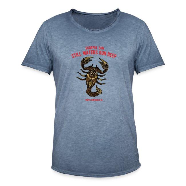 Scorpio Sun Men's Vintage T-Shirt