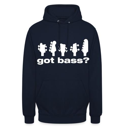 Got Bass? hoodie - Sudadera con capucha unisex