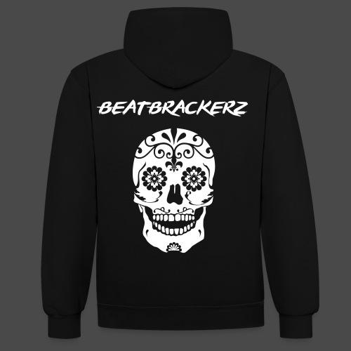 BeatBrackerz Skull Hoodie - Kontrast-Hoodie
