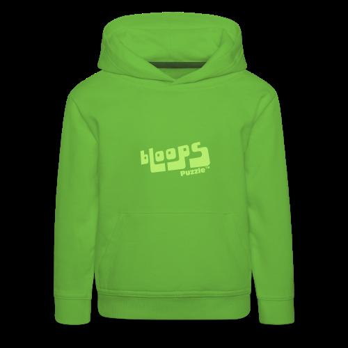 Hoodie for kids bLoops Puzzle (printed green) - Kids' Premium Hoodie