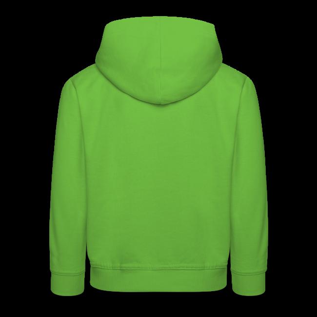 """Hoodie for kids """"bLoops Puzzle"""" (printed green)"""