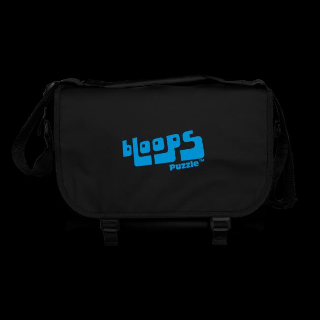"Handy shoulder bag ""bLoops Puzzle"" (printed blue)"
