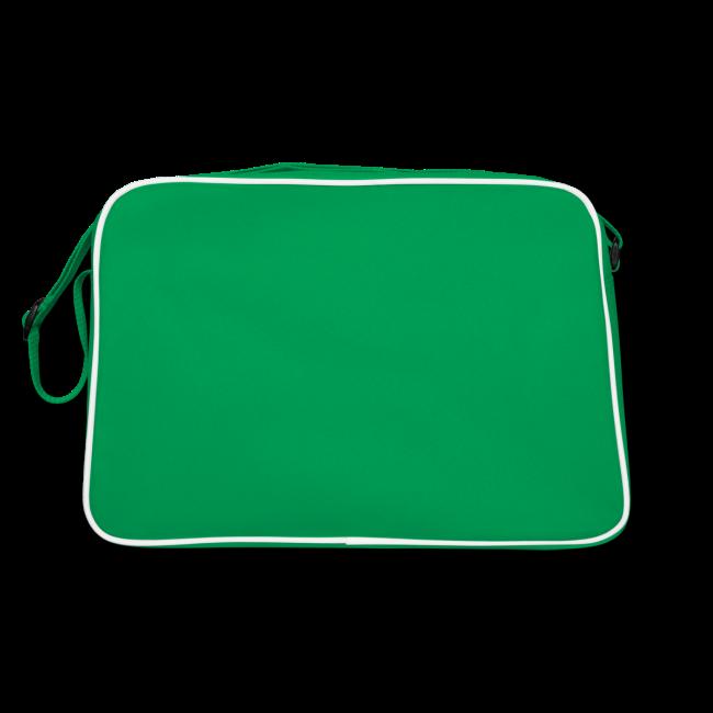 "Retro Bag ""bLoops Puzzle"" (printed green)"