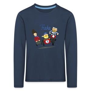 'Crazy Race Fiete Kids Longsleeve - navy - Kinder Premium Langarmshirt