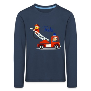 'Firefighter' Fiete Kids Longsleeve - navy - Kinder Premium Langarmshirt