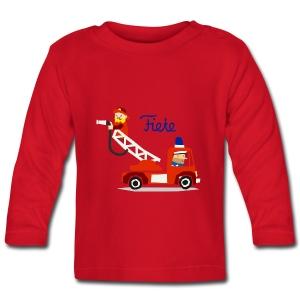'Firefighter' Fiete Baby Longsleeve - red - Baby Langarmshirt