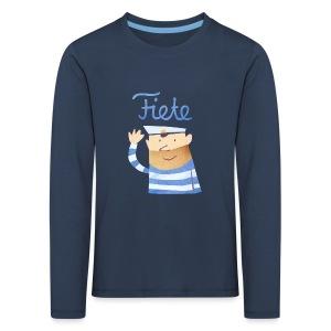 'Hello' Fiete Kids Longsleeve - navy - Kinder Premium Langarmshirt
