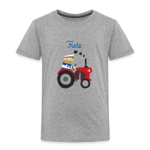 'Farm' Fiete Kids Shirt - grey - Kinder Premium T-Shirt