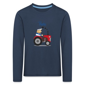 'Farm' Fiete Kids Longsleeve - navy - Kinder Premium Langarmshirt