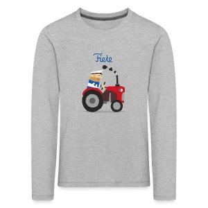 'Farm' Fiete Kids Longsleeve - grey - Kinder Premium Langarmshirt