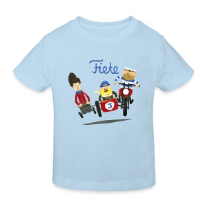 'Crazy Race' Fiete Kids Shirt Bio - lightblue - Kinder Bio-T-Shirt