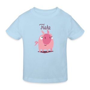 'Piggy' Fiete Kids Shirt Bio - lightblue - Kinder Bio-T-Shirt
