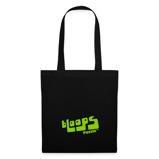 "Tote Bag ""bLoops Puzzle"" (printed green)"