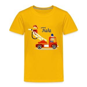 'Firefighter' Fiete Kids Shirt - yellow - Kinder Premium T-Shirt