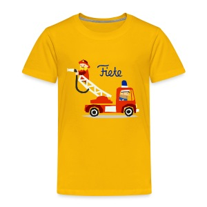 'Firefighter' Fiete Kids Shirt - yellow - Kinder Premium T-Shirt