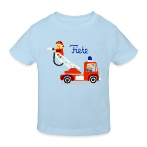 'Firefighter' Fiete Kids Shirt Bio - lightblue - Kinder Bio-T-Shirt