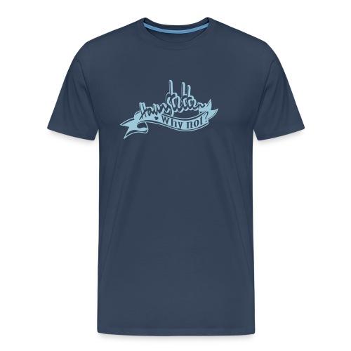 Männer Shirt navi   Haunstetten - Why not?   eisblau - Männer Premium T-Shirt