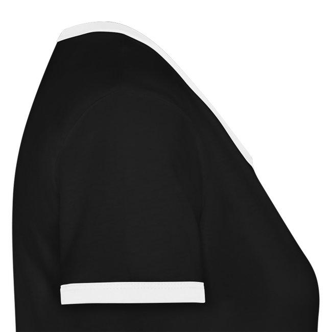 Damen Kontrast Shirt black | Haunstetter Spotzl | white