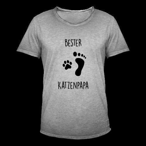 Bester Katzenpapa - Männer Vintage T-Shirt