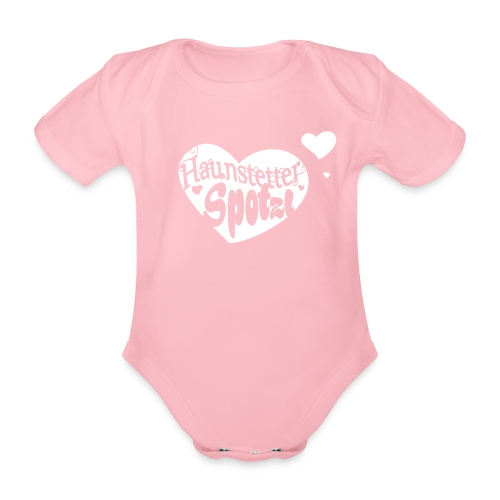 Baby Body rose | Haunstetter Spotzl - Baby Bio-Kurzarm-Body